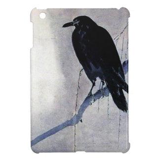 Black Raven Bird Antique iPad Mini Case