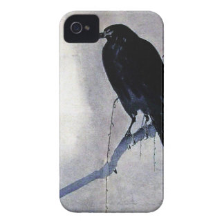 Black Raven Bird Antique iPhone 4 Cover