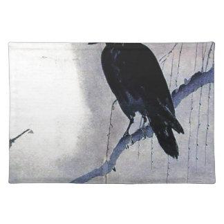 Black Raven Bird Antique Placemat
