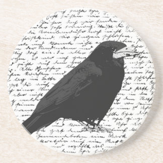 Black raven drink coaster