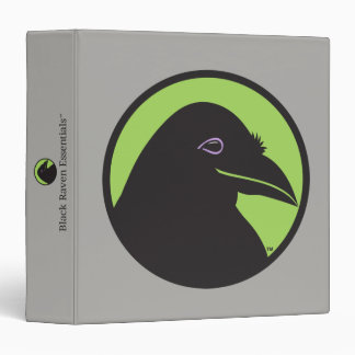 Black Raven Essentials Logo Binder