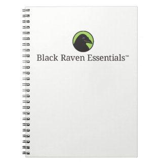 Black Raven Essentials Logo Notebook