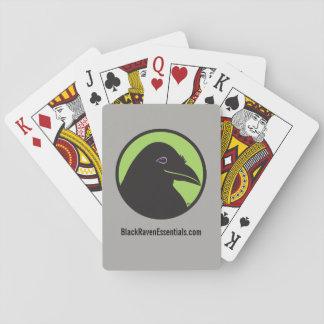 Black Raven Essentials Logo Playing Cards