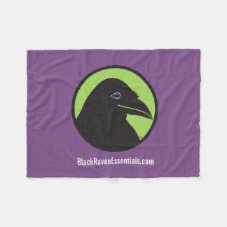 Black Raven Essentials Logo Purple Blanket