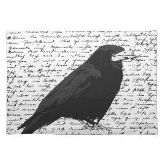 Black raven placemat