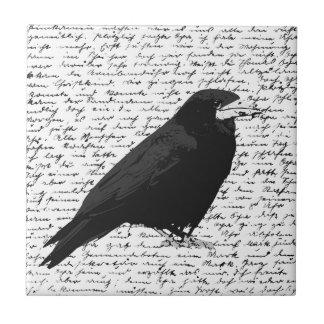 Black raven tile