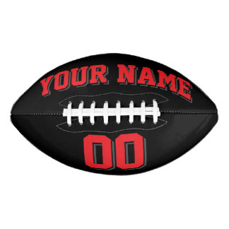 BLACK RED AND CHARCOAL GRAY Custom Football