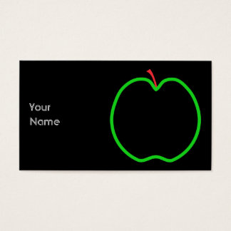 Black, Red and Green Apple Design. Business Card