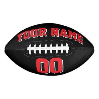 BLACK RED AND WHITE Custom Football