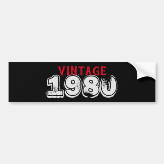 Black, Red and White Grunge Vintage Car w/Year Bumper Sticker