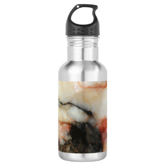 Black, Red, and White Quartz Mineral Texture 532 Ml Water Bottle