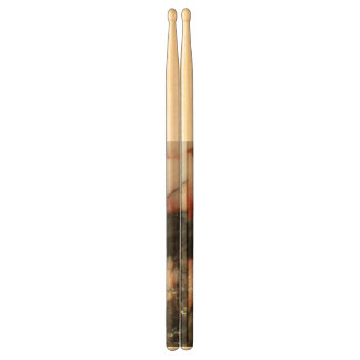 Black, Red, and White Quartz Mineral Texture Drumsticks