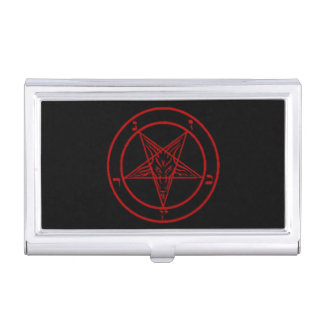 Black/Red Baphomet Business Card Holder