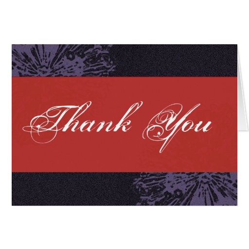 Black & Red Blossom Thank You Cards