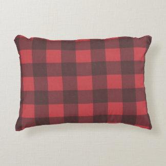 Black & Red Buffalo Check Pattern Decorative Pillow
