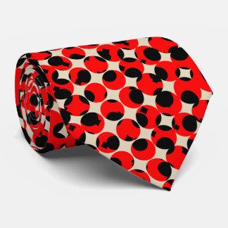Black Red Creamy White Classy Tie