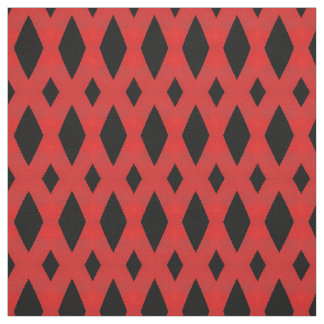 Black & Red Diamonds Fabric