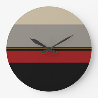 Black, red, gray and tan clock