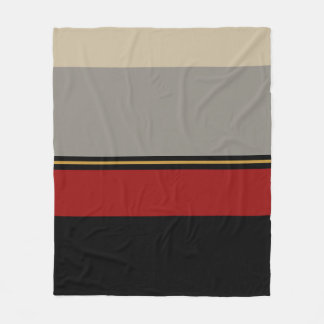 Black, red, gray, tan blanket