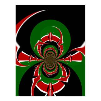 BLACK RED GREEN GRAPHICS HAKUNA MATATA POSTCARD