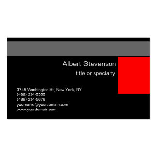 Black Red Grey White Consultant Business Card