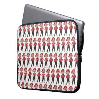 Black Red Hip Hop Dancer Dance Teacher Recital Laptop Sleeve