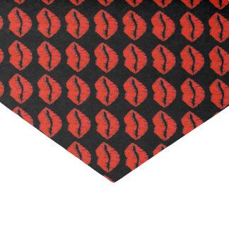 Black Red Kiss Lips Lipstick Valentine's Tissue Tissue Paper