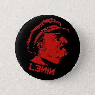 Black & Red Lenin Communist Artwork 2 Inch Round Button