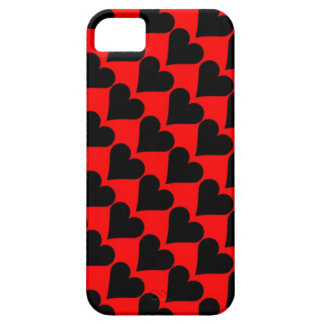 Black red love hearts case iPhone 5 covers