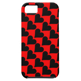Black red love hearts case case for the iPhone 5