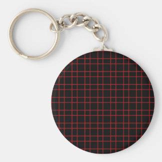 Black Red Plaid Keychain
