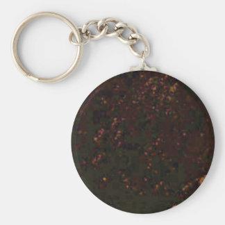 black red specks keychain