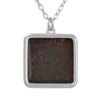 black red specks silver plated necklace
