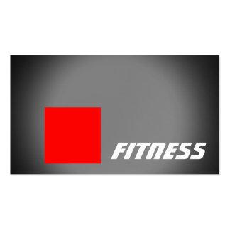 Black Red Stripe Fitness Sport Business Card