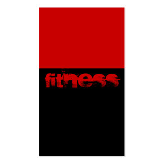 Black Red Stripes Fitness Sport Business Card