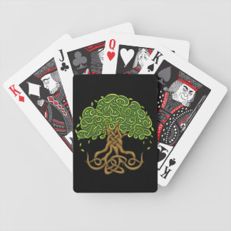 Black & Red Tree of life playing cards