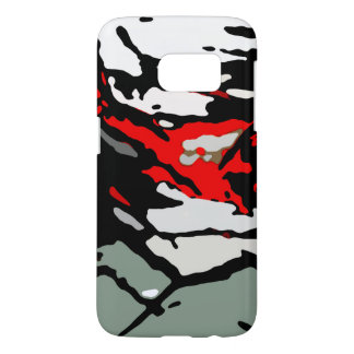 Black Red Turquoise Gray Pattern Samsung Galaxy S7 Case