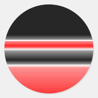 Black/Red & White Design Stickers