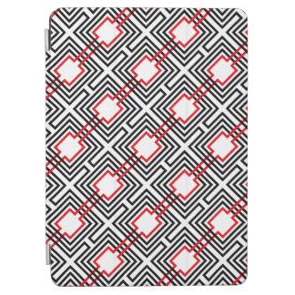 Black Red & White Geometric iPad Air Cover