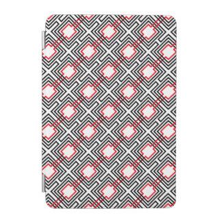 Black Red & White Geometric iPad Mini Cover