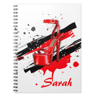 Black, Red & White Hot High Heels Notebooks