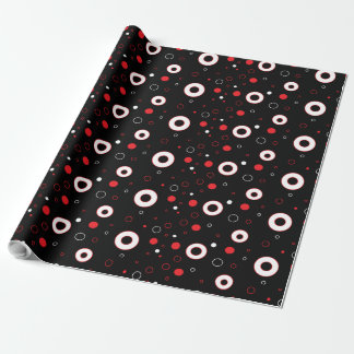 Black, Red White Polka Dots Gift Wrap