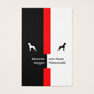 Black red with Doggen Business Card