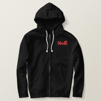 Black/Red XWP Embroidered Hoodie