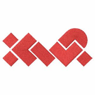 Black/Red XWP EmbroideredFleece Zip Jogger Jacket