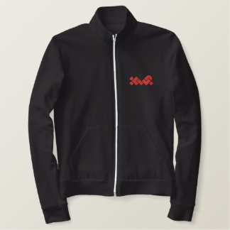 Black/Red XWP EmbroideredFleece Zip Jogger Jacket