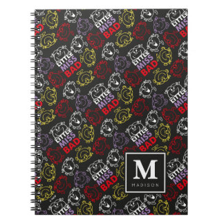 Black, Red & Yellow Pattern | Add Your Name Spiral Notebook