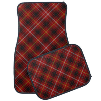 Black Red Yellow Scottish Plaid Tartan Pattern Car Mat