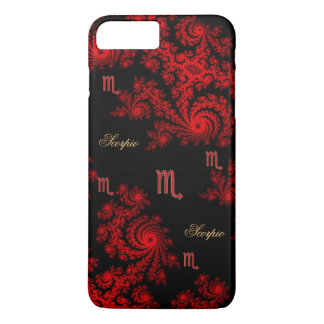 Black Red Zodiac Sign Scorpio iPhone 7 Plus Case