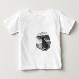 Black Retriever Dog Baby T-Shirt